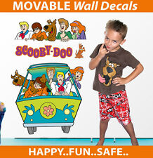 Scooby Doo Reusable Wall Sticker Decal Set Easy Reuse Remove