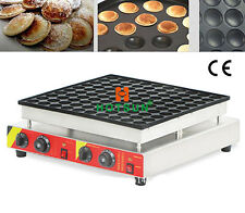 Commercial Electric 100pcs 4.5cm Poffertjes Mini Dutch Pancake Waffle Maker Iron