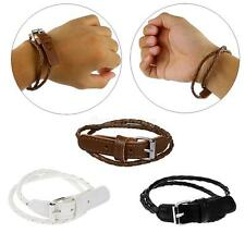 Punk Fashion Hand Cuff Multi-layer Leather Bracelet Wristband Bangle in 3 colors