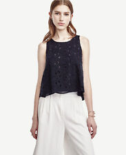 Ann Taylor - Misses Navy Blue Begonia Lace Tank $98.00 (H)
