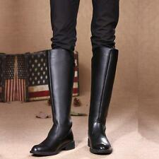 Men's Military Rock Equestrian Riding Cowboy Pull on Knee high Casual Boots new