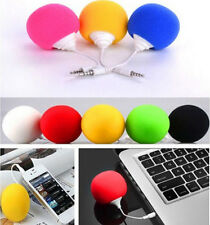 5.5mm MP3 Mini iPod Portable Music iphone Cell Phone Sponge Ball Speaker PC