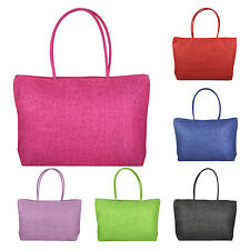 Ladies Straw Weaving Summer Beach Tote Bag Shopping Travelling Zippered Bag LW