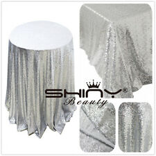 Factory Prices !! Sparkly Silver Sequin Tablecloth,Choose Your Sizes , On Sale !