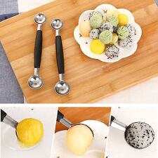 Home Kitchen Bar Fruit Carving Cutter Watermelon Melon Ice Cream Dig Ball Scoop
