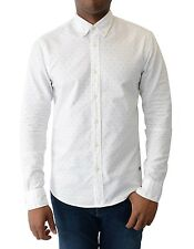 BNWT Scotch and Soda Oxford Print Shirt L/S - White WAS £80 NOW ONLY £39.99 SALE