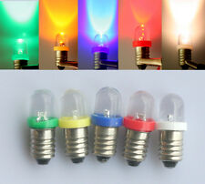 E10 Screw Base Green/Yellow/Red/Blue/White LED Indicator Bulb Lionel Lamp Light