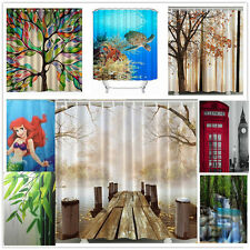 Beautiful Stylish Design Bathroom Bath Waterproof Fabric Shower Curtain Set Lots