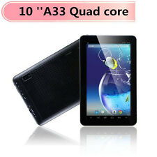 10 inch A33 Quad core 16GB Android 4.4 1.2GHz Tablet pc black white WIFI