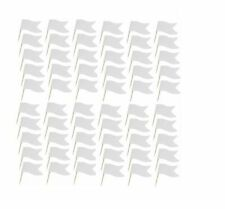 White Sandwich Flags Food Party Wedding Buffet Catering Labels Cocktail Stick UK