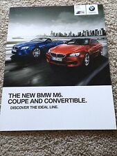 2013 BMW M6 Coupe and Convertible Sales Brochure