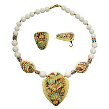 Hand Crafted Ceramic Jewelry Sets, Necklace and Earrings