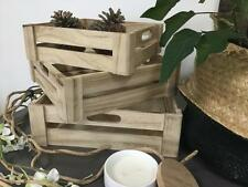 Cute Wooden storage crates Timber boxes decorative trays great for bits n Pieces