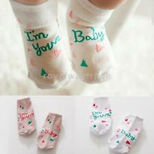 Baby Girls Boys Low Cut Ankle Cotton Socks Pink/Green