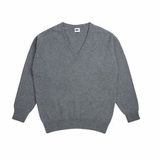 Community Clothing Women's Grey Wool V-Neck Jumper