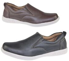 Mens Slip On Casual Shoes Deck Loafers Walking Comfort Driving Flat Trainer Size