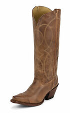 Tony Lama Womens Latigo Tuscon Leather Vaquero 15in Western Boots