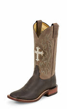 Tony Lama Womens Choco Saigets Worn Goat Leather San Saba Western Boots