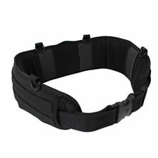 Padded MOLLE Combat  Battle Belt Competition and Military Operators - BLACK