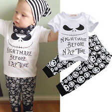 Novelty cotton toddler kid newborn baby infant boy nightmare before nap 2pcs set