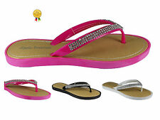 NEW WOMENS LADIES SUMMER FLIP FLOP JELLY SANDALS TOE POST BEACH DAIMANTE UK SIZE