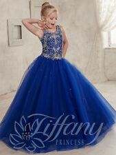 Flower Girl Dress Wedding Bridesmaids Prom Ball Gown Pageant Party Royal blue 14