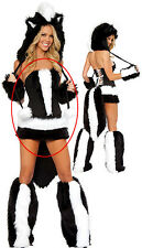 80083 Sexy Skunk Costume: Corset, Skirt and Tail SZ Small