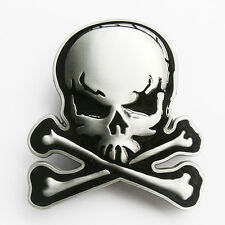 Men Belt Buckle Skull With Bones Belt Buckle Gurtelschnalle Boucle de ceinture
