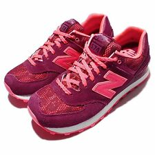 New Balance WL574NLB B  Nouveau Lace Red Pink Womens Running Shoes WL574NLBB