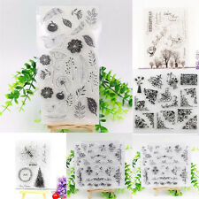 HOT Flower Transparent Silicone Clear Rubber Stamp Sheet Cling Scrapbooking DIY
