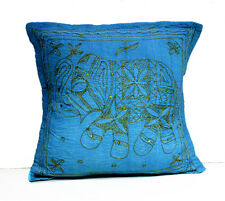 A Ethnic Elephant Embroidered Sequin Work UK Pillow Cushion Cover