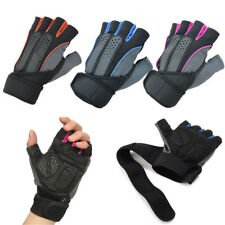 Unisex Weight Lifting Gym Fitness Workout Training Exercise Half Gloves US Stock