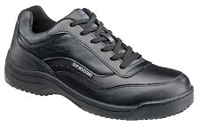Skidbuster Womens Slip Resistant Athletic W Black Action Leather Shoes