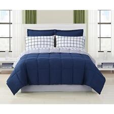 Blue Bed Set in Bag Bedding Set Comforter Solid Queen Full Twin 8 PC Bedroom NEW