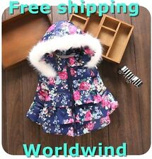 Girls Coats for Baby Winter size Clothes Jacket Snowsuit Fleece Outerwear Hooded