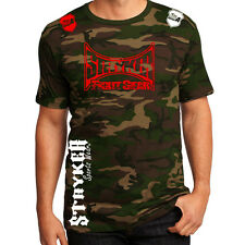 Stryker Fight Gear Camouflage Army Adult T-Shirt MMA UFC & FREE Tapout Sticker w