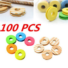 100pcs Trace Tackle Fishing line Circular Winding plate Swivel Outdoor