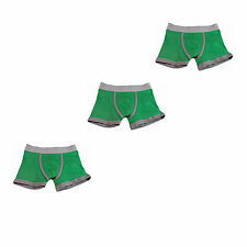 Boys Plain Boxers Pants Trunks NEW 3 Pack Green 95% Cotton Ages 2-3Y and 3-4Y
