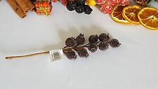 FROSTED  BERRY PICK BURGUNDY  ON WIRED STEM CHRISTMAS CRAFT,WREATHS /GARLANDS