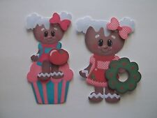 3D - U Pick - Ginger Christmas Cupcake Cookie Scrapbook Card Embellishment 668