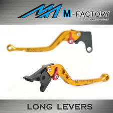 Fit Yamaha TDM 900 12 13 14 Gold Long Brake Clutch Levers Set FLGR