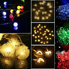 Battery Operated Heart/Star/Ball String Fairy Xmas Wedding Party Decor Lights