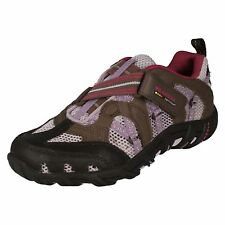 Girls Merrell Brown/purple Riptape strap trainers WATERPRO Z-RAP J85998Y