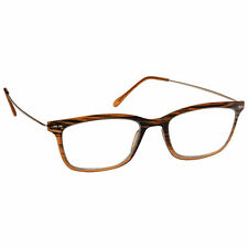 UV Reader Distressed Brown Metal Sides Reading Glasses Mens Womens R91-2