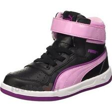 Scarpe Puma Liza Mid Jr 361564 01 Black Sneakers Girl Leather Black Pink