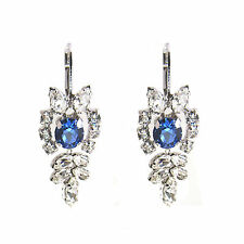 Crystal Princess Earrings Royal Blue Made with SWAROVSKI® Crystals