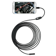 6 LED 7mm Endoscope Waterproof Inspection Borescope Camera 5M Cable For Android