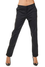 MONOCROM New Woman Dark Grey Stretch Cotton Pants Trouser classic NWT