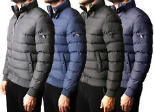 Mens Padded Bubble Quilted Puffer Jacket Lined Winter Coat in 3 Colours
