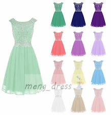 New Long Chiffon Stock Evening Party Formal Gowns Bridesmaid Cocktail Prom Dress
